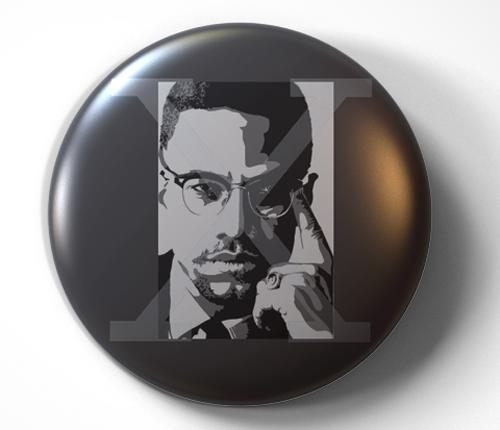 Malcolm X - pin pinback button