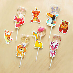 animal-deer-fox-lion-owl-candy-lollipop-decoration-card-wedding-supplies-kids-DD