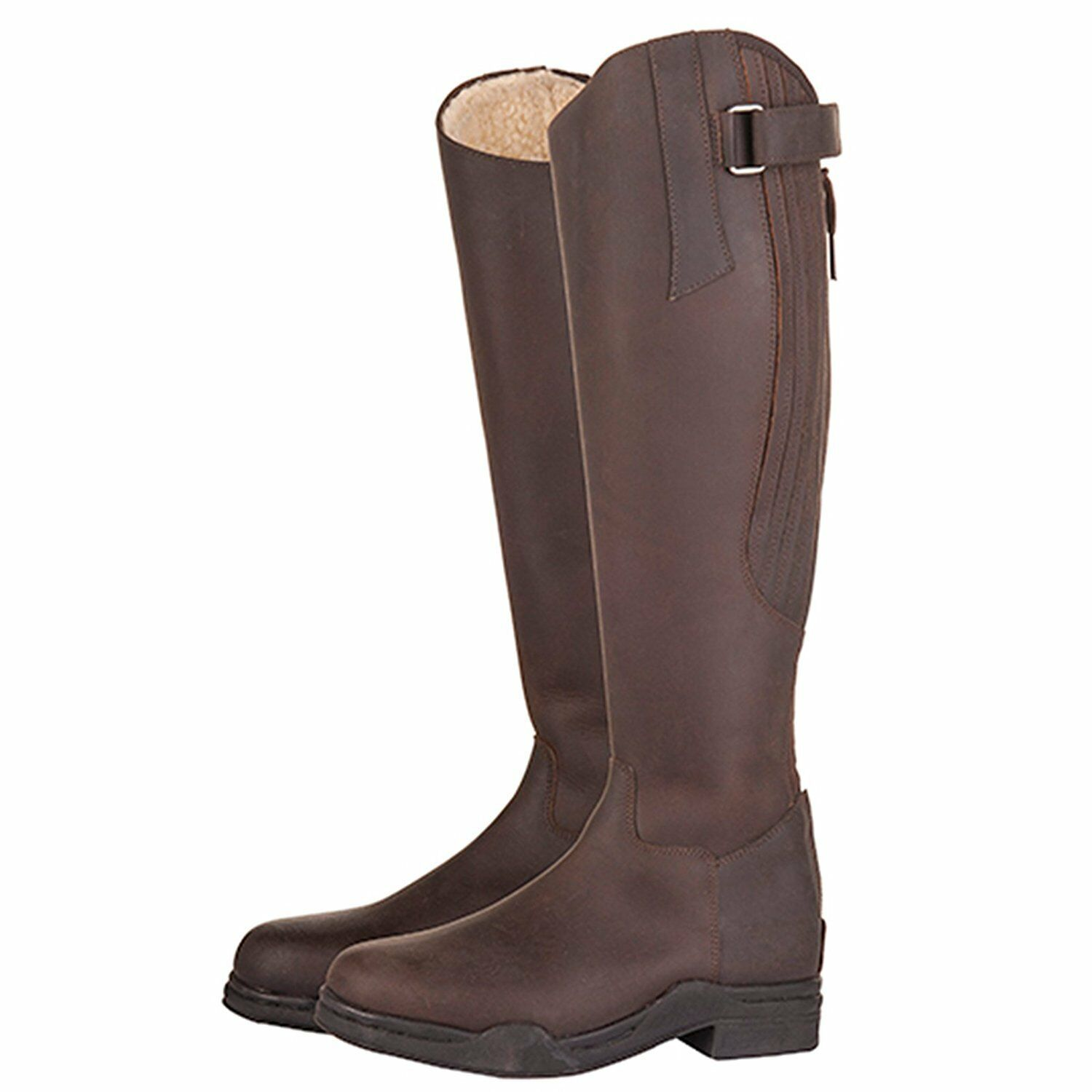 Mark Todd Tall Winter Fleece Lined Brown Riding Boots Size 41