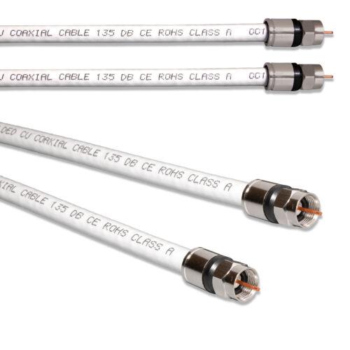 Fritzbox Kabel Verbindungs Koaxialkabel 135 dB KUPFERF-Kompressionsstecker 4K