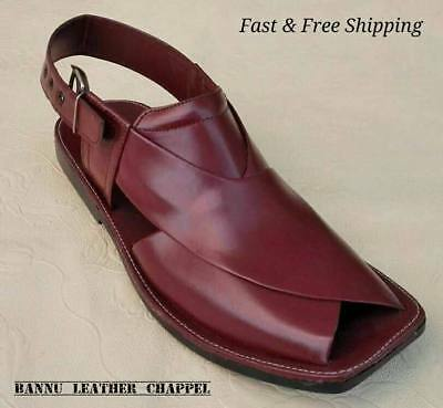 BANNU LEATHER  MEN/'S HANDMADE CEREMAL PESHAWARI CHAPPEL