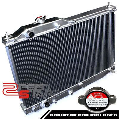 HONDA S2000 AP1 F20C MANUAL TWO/DUAL ROW/CORE ALUMINUM CHROME RACING RADIATOR
