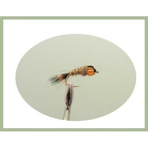 18 Hot Head Nymphs Pheasant Tail Tri Bead Trout Flies Hares Ear Mullet Back