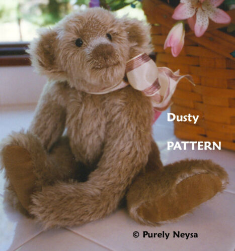 "Phillippi of Purely Neysa Mohair or Plush /""Dusty/"" Teddy Bear PATTERN by Neysa A"