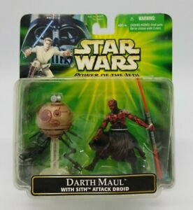 "Star Wars Power of the Jedi ""Darth Maul with Sith Attack Droid"" POTJ New in Box!"