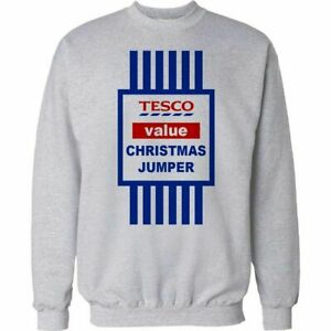Tesco-Value-Christmas-Jumper-Sweatshirt-Funny-Xmas-Joke-Gift-Mens-Womens