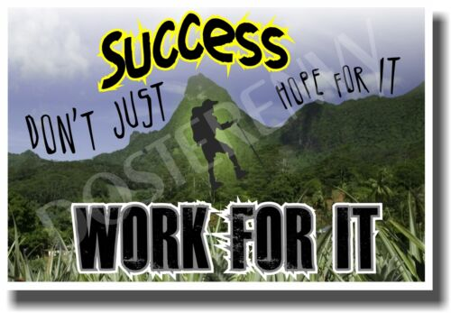 Dont Just Hope For It Success NEW Classroom Motivational Poster