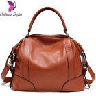 Women 100% genuine cow leather handbag Shoulder Messenger Hobo Bag satchel Tote