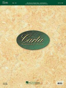 Audacieux No. 19 Carta Score Papier Carta Manuscrit Papier Feuille De Musique Neuf 000210069-afficher Le Titre D'origine