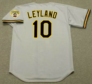 innovative design 872fd fe53a Details about JIM LEYLAND Pittsburgh Pirates 1992 Majestic Throwback Away  Baseball Jersey