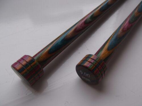 KnitPro Symfonie Madera Rectas//agujas de tejer de punto único longitud 25cm