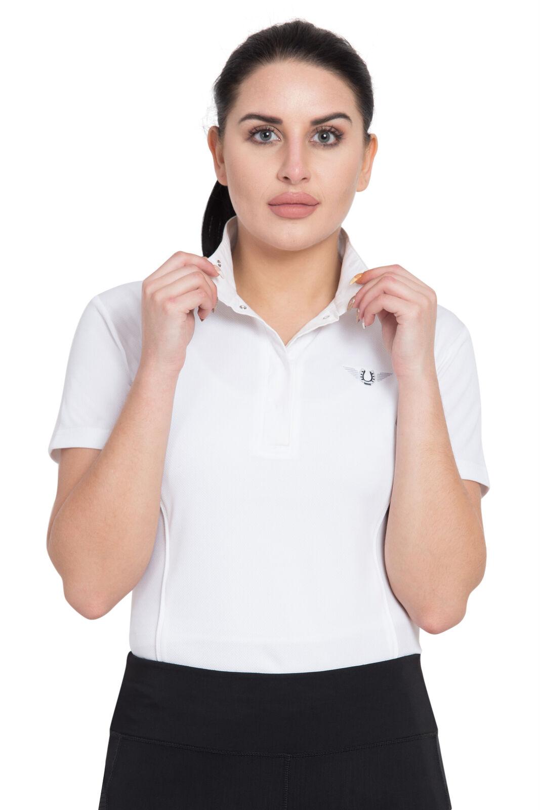 TuffRider Ladies Kirby Kwik Dry Short Sleeve Show Shirt