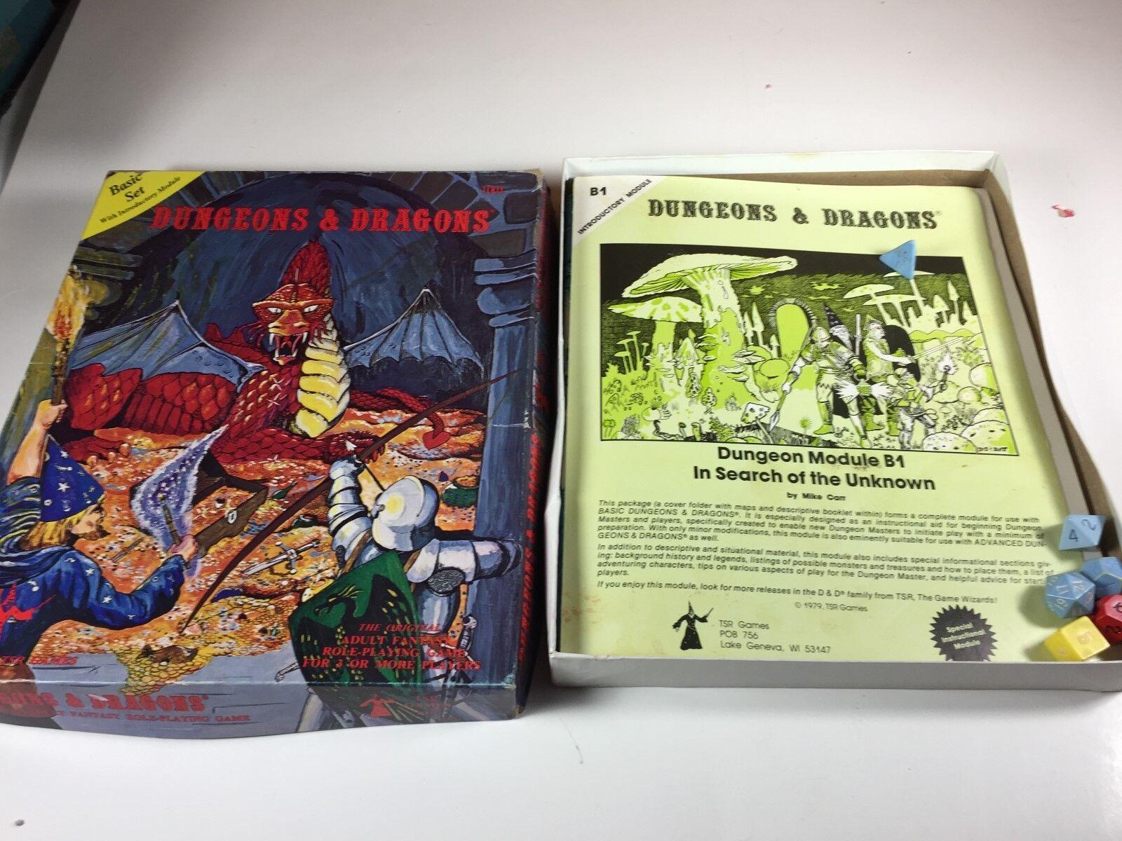 primera vez respuesta Calabozos Calabozos Calabozos Y Dragones conjunto básico 1001 TSR 1978 Segunda Edición  Las ventas en línea ahorran un 70%.
