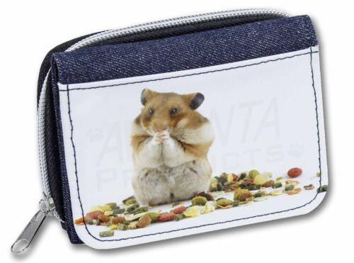 HAM-1JW Lunch Box Hamster Girls//Ladies Denim Purse Wallet Christmas Gift Idea