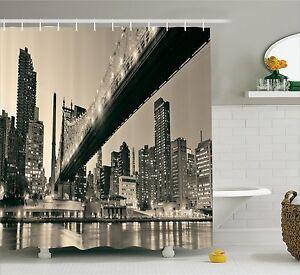 Image Is Loading Queensboro Bridge NYC Night Art Prints Sepia Shower