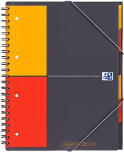 OXFORD Cahier International Organiserbook A4+ Petits Carreaux 5mm 160 Pages Reli
