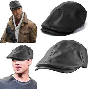 prezzo ufficiale cerca il meglio servizio duraturo Dettagli su Coppola uomo cappello basco gatsby berretto visiera in pelle  nero inverno donna