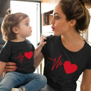 Family Look Matching Clothes Mommy And Me Tshirt Mother Daughter Son Outfits Wom
