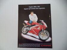 advertising Pubblicità 1999 MOTO CAGIVA MITO 125 e ALBERTO TOMBA