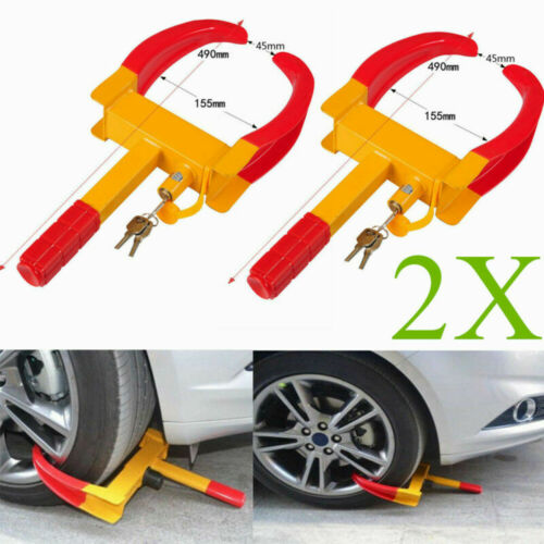 Wheel Lock Clamp Boot Tire Claw Trailer Auto Car Truck Anti-Theft Towing Parking