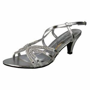Anne-Michelle-L3R416-Ladies-Silver-Slim-Heel-Sandals-R12B