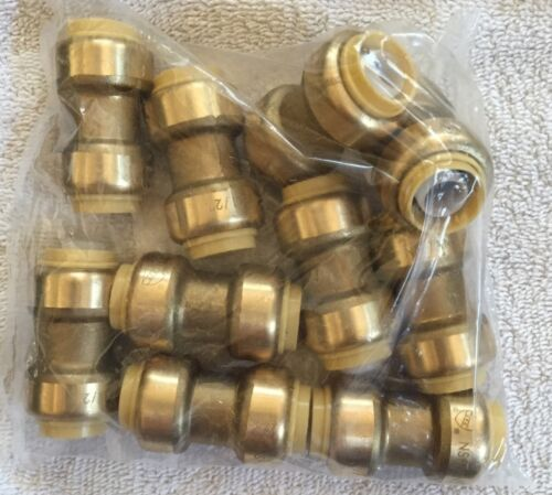 """NEW 10 PIECE 1//2/""""  SHARKBITE STYLE PUSH ON COUPLINGS PEX COPPER REPAIR FITTINGS"""
