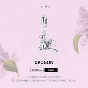 CHARM-ARGENT-925-DROGON-DRAGON-BRACELET-PENDENTIF-FEMME
