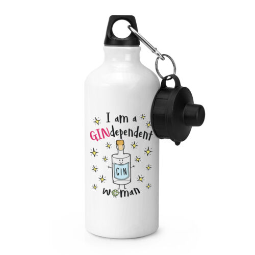 I Am A Gindependent Woman Sports Drinks Bottle Camping Funny Gin Independent