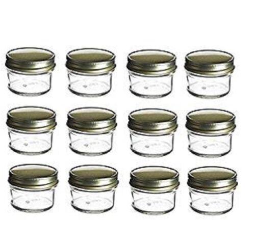 Wedding Favors 4 oz Mason Glass Jars for Jam Shower Nakpunar 12 pcs Honey