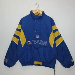 super popular b150b 99874 Vintage St. Louis Rams Starter NFL 1/4 Zip Insulated Jacket ...
