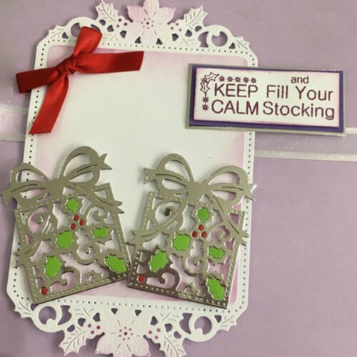 Gift box Cutting Dies Scrapbooking Embossing Card Making Paper Craft Die  R