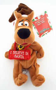 NWT-SCOOBY-DOO-I-Believe-in-Santa-Warner-Brothers-Bean-Bag-Plush