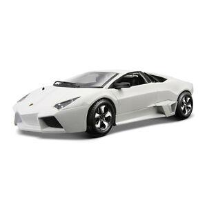 Lamborghini-Reventon-1-24-escala-Diecast-Modelo-Coche-Modelos-Coches-De-Fundicion-Blanco