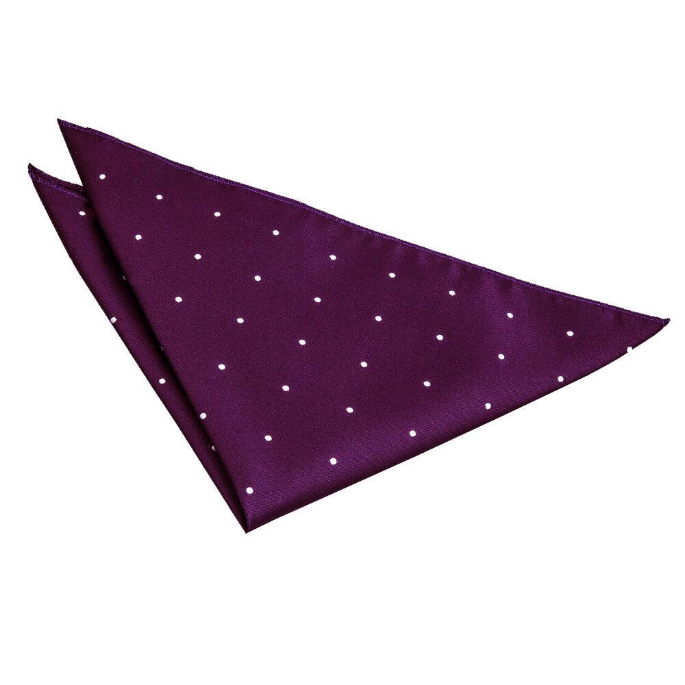 Purple Pocket Square Handkerchief Hanky Woven Pin Dot Mens Accessory by DQT