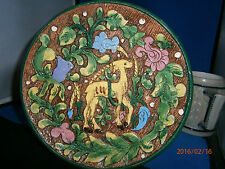 """8"""" Majolica Numbered Plate Made in Italy 360/501"""