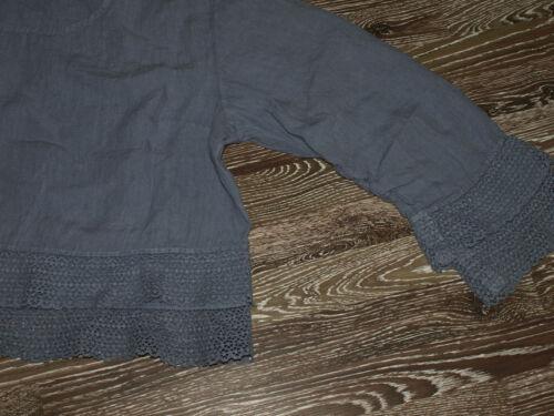 Gr Lagenlook xxxl In Spitze Leinen Shirt Aurea Tunika Neu Mit Vita Grau zCqqwf7x