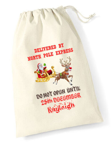 Personalised Merry Christmas Gift Santa Sack Bag Stocking Family Kids Pet Xmas Home Garden Other Christmas Winter Décor Aimsresearch Com Au