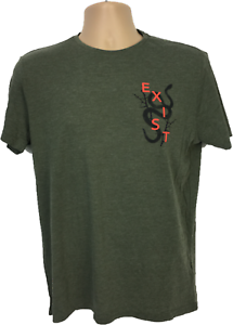 Mens-T-shirt-Size-M-Green-Khaki-Top-New-Look-Men-EXIST-100-Cotton-Brand-New