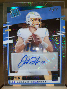 2020 Justin Herbert Holo Platinum 1/1 Rc Auto Clearly Donruss Rated Rookie
