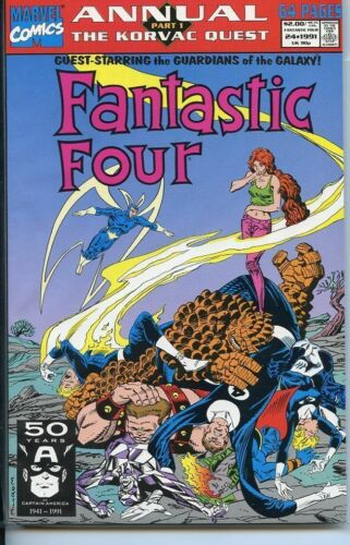 Fantastic Four 1961 series annual # 24 very fine comic book