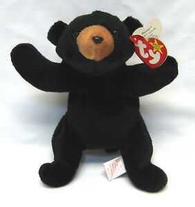 76444e9fc9d Image is loading Rare-TY-Beanie-Babies-Blackie-Bear-with-ERRORS