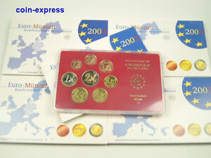 EURO-KMS-DEUTSCHLAND-2003-PP-A-D-F-G-J-Polierte-Platte-Germany-Coin-Set