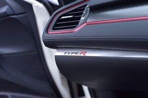 Strip Honda Civic X Type R Fk8 Gt Sport Plus I Vtec 2017 White Black
