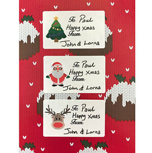 Christmas Gift Tag.Details About 21 Christmas Gift Tag Stickers Luxury Ivory Parchment Self Adhesive Labels