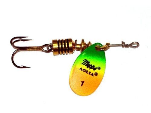 #3 ; 6,5g Mepps Aglia Fluo sizes spinner Köder