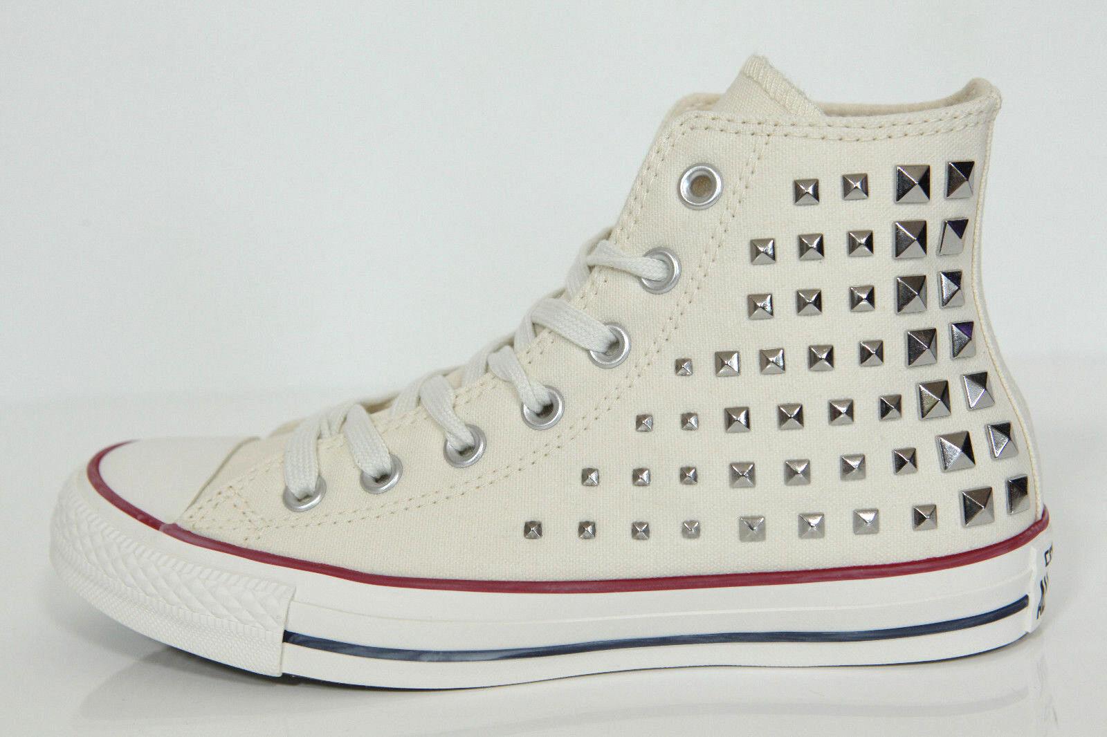 Neu All Star Converse Chucks Hi Collar Studded Nieten Sneaker Egret 540367c