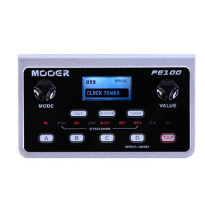 new mooer pe100 portable guitar multi effects processor 6943206791812 ebay. Black Bedroom Furniture Sets. Home Design Ideas