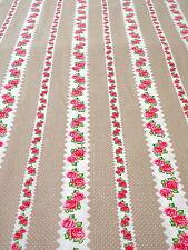 Tessuto 0,5 m Rosa bianco 8,90€/m 100% Art. A Metraggio Cotone Dekostoff