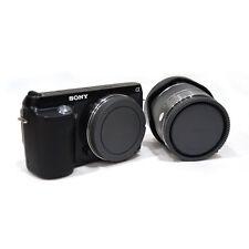 Black Rear Lens Cap + Camera Front Body Cover for Sony E-Mount NEX-3 NEX-5 Tool