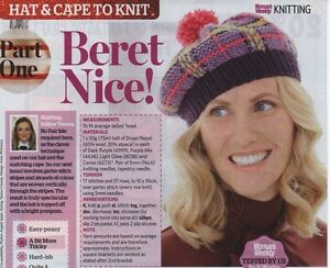 Free Easy Knitted Scarf Patterns : Womans Weekly Beret Knitting Pattern eBay